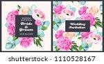 vintage wedding invitation | Shutterstock .eps vector #1110528167