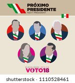 candidate icons mexico... | Shutterstock .eps vector #1110528461