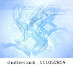 electric scheme for design use. ... | Shutterstock . vector #111052859