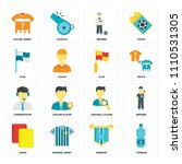set of 16 icons such as tumbler ...