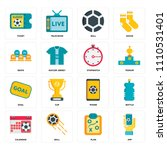 set of 16 icons such as app ...
