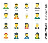 set of 16 icons such as woman ... | Shutterstock .eps vector #1110534131