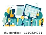 vector illustration  stealing... | Shutterstock .eps vector #1110534791