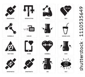 set of 16 icons such as salt ...