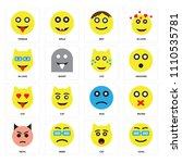 set of 16 icons such as cool ...