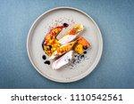 modern barbecue crocodile tail... | Shutterstock . vector #1110542561