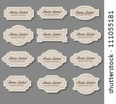 vintage labels | Shutterstock .eps vector #111055181