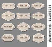 vintage labels | Shutterstock .eps vector #111055181