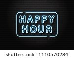 vector realistic isolated neon... | Shutterstock .eps vector #1110570284