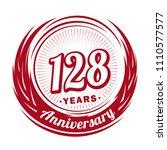 128 years anniversary.... | Shutterstock .eps vector #1110577577