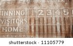Old Faded Baseball Scoreboard...