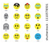 set of 16 icons such as zombie  ...