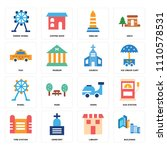 set of 16 icons such as... | Shutterstock .eps vector #1110578531