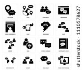 set of 16 icons such as video... | Shutterstock .eps vector #1110578627