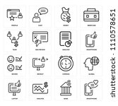 set of 16 icons such as... | Shutterstock .eps vector #1110578651