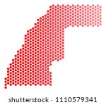 red round spot western sahara...   Shutterstock .eps vector #1110579341