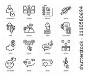 set of 16 icons such as growth  ... | Shutterstock .eps vector #1110580694