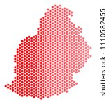 red circle dot mauritius island ...   Shutterstock .eps vector #1110582455