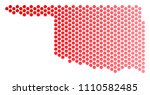 red circle dot oklahoma state...   Shutterstock .eps vector #1110582485