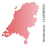 red dotted netherlands map....   Shutterstock .eps vector #1110582521