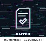 glitch effect. checked document ...