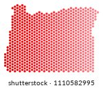 red round spot oregon state map....   Shutterstock .eps vector #1110582995