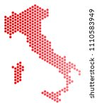 red round spot italy map....   Shutterstock .eps vector #1110583949