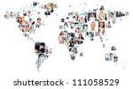 collection of different people... | Shutterstock . vector #111058529