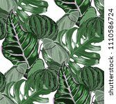 seamless pattern with tropical... | Shutterstock .eps vector #1110586724