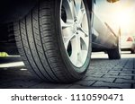 car all season tire close up ... | Shutterstock . vector #1110590471