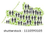 people population and grass...   Shutterstock .eps vector #1110593105