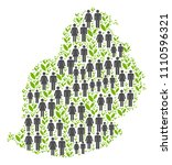 people population and flora... | Shutterstock .eps vector #1110596321