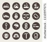 rock climbing icons | Shutterstock .eps vector #1110597071