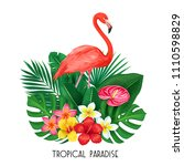 vector tropical banner. summer... | Shutterstock .eps vector #1110598829