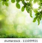 Natural Green Background With...