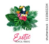 vector tropical banner. summer... | Shutterstock .eps vector #1110602234