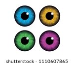 set of humans and abstract eyes.... | Shutterstock .eps vector #1110607865