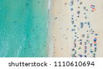 aerial top view of people crowd ... | Shutterstock . vector #1110610694