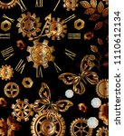 beautiful background with gears ... | Shutterstock .eps vector #1110612134