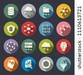 big data icon set | Shutterstock .eps vector #1110613721