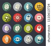 artificial intelligence icon set | Shutterstock .eps vector #1110613724