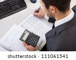 successful accountant working... | Shutterstock . vector #111061541