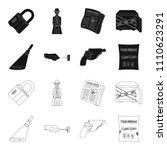 the detective's flashlight... | Shutterstock .eps vector #1110623291