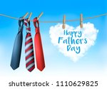 happy father's day background... | Shutterstock .eps vector #1110629825