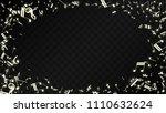 golden musical notes on black... | Shutterstock .eps vector #1110632624