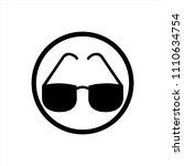 glasses icon in trendy flat...