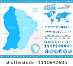 french guiana map and... | Shutterstock .eps vector #1110642635