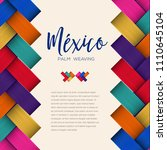 traditional colorful mexican...   Shutterstock .eps vector #1110645104