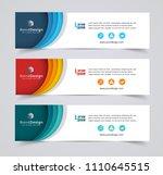 abstract header banner design... | Shutterstock .eps vector #1110645515