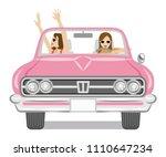 two women enjoying to drive the ...